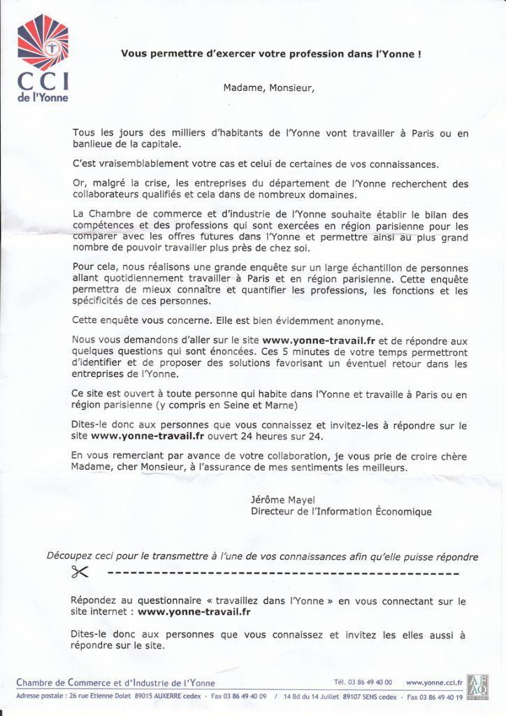 CCI Débauche les Icaunais