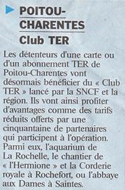 Club TER Poitou-Charentes