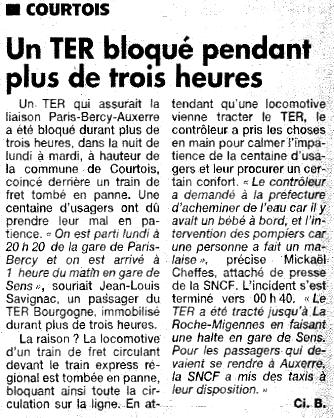 Article de l'Yonne Républicaine du Mardi 16 Juin 2009