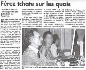 Yonne Républicaine - Samedi 4 juillet- Guy Ferez tchate ...