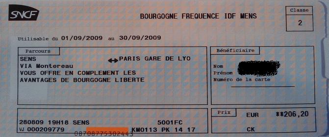 Abo Frequence Bourgogne Sens - Paris